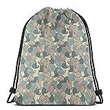 Juzijiang Drawstring Shoulder Backpack Travel Daypack Gym Bag Sport Yoga,Motifs from...