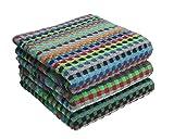 Betz 3er Pack Handtücher Set Grubentuch Arbeitshandtuch Küchentuch Größe: 50x90 cm 100% Baumwolle, gewürfelte Optik bunt