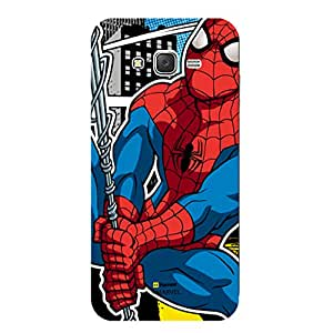 Marvel Ultimate Spider Man Licensed Slim Fit Plastic Case Cover for Samsung Galaxy On7 Pro (Spiderman Web)