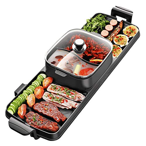 RNG 2 in 1 BBQ & Hot Pot, Tisch-Party-Grill und Hot Pot (6-8 Personen), Raclette-Non-Stick, tolle Geschenkidee
