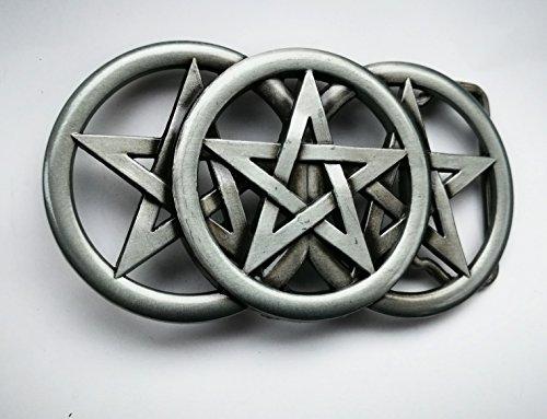 Gürtelschnalle, Keltischer Knoten, Pentagramm, Metall (Pentagramm-gürtelschnalle)