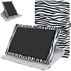 "Acer Iconia One 10 B3-A40 Rotating Coque,Mama Mouth 360 Degree Rotating PU Cuir debout Fonction Housse Coque Étui Couverture pour 10.1"" Acer Iconia One 10 B3-A40 Android Tablet,Zebra Noir"