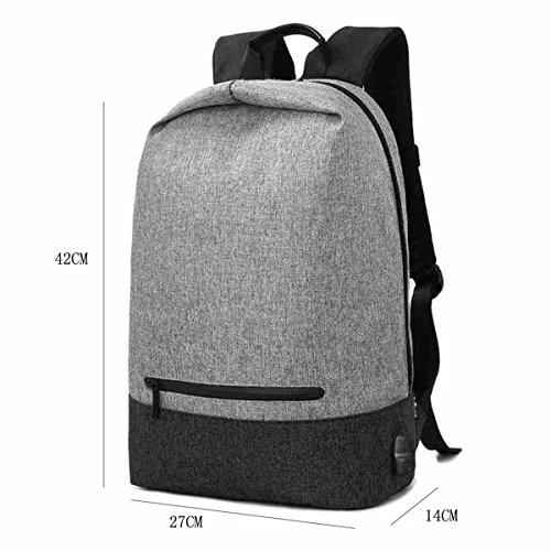 Art- Und Weisesegeltuch-Kursteilnehmer-Schule-Rucksack-Spielraum Daypack-Geschäfts-beiläufiger Computer-Schulter-Beutel,Black GrayWithBlack