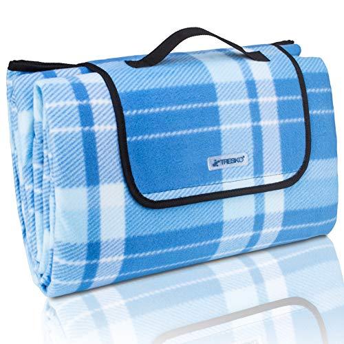 TRESKO XXL 200 x 200 cm Picknickdecke Acryl Wasserdicht | Campingdecke für Outdoor mit Tragegriff | Wärmeisoliert & Weich PNDKE41 (Pan 12 X 10)