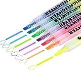 Jansroad Lot de 6doubles pointes surligneurs marqueurs Art Study kit–1–4mm pour le dessin écrire la mise en Évidence et Soulignement–7couleurs