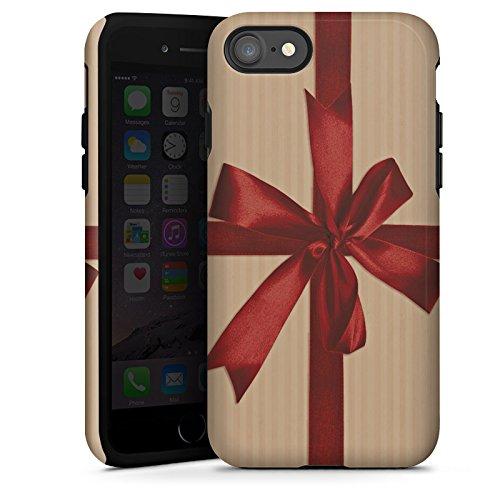 Apple iPhone X Silikon Hülle Case Schutzhülle Geschenk Schleife Rot Tough Case glänzend