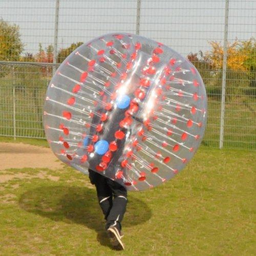 amazingsportstm burbuja bola de fútbol traje para niños barato 4pies 1.2m Rojo PVC