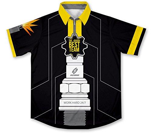 Spark Plug Pit Crew Racing Hemd für Mechaniker (Pit Racing Shirt Crew)