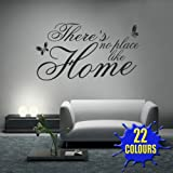 There's No Place Like Home v2 - Wall Decal Sticker Quote lounge living room bedroom (Large)