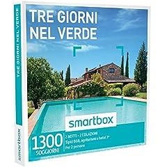 Idea Regalo - smartbox - Cofanetto Regalo - Tre Giorni nel Verde - 1300 soggiorni in Case tipiche, agriturismi e Hotel 3*