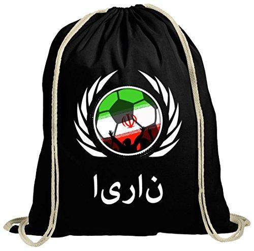 World Cup Wappen Soccer Fussball WM Fanfest Gruppen Fan natur Turnbeutel Gym Bag Fußball England schwarz natur