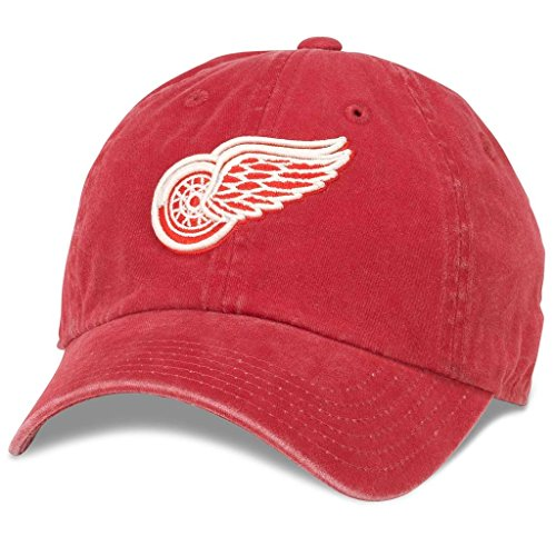 NHL American Nadel NEU Raglin Baumwolle Twill verstellbar Dad Gap, Detroit Red Wings -