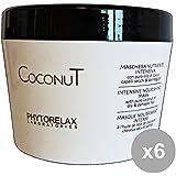 Set 6 PHYTORELAX Coconut Maschera Nutriente Intensa Vaso 250 Ml. Prodotti per capelli