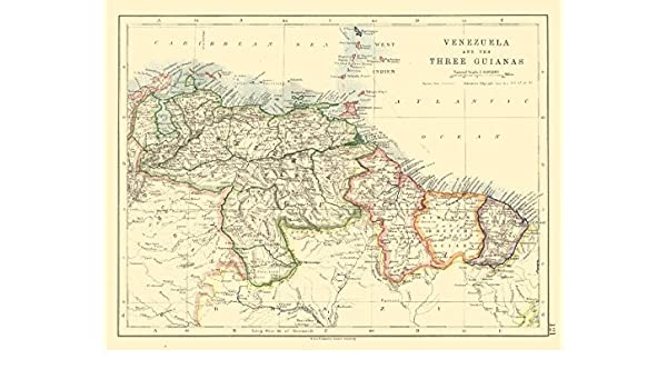 VENEZUELA / GUIANAS. Suriname. British French Dutch Guyana. JOHNSTON on