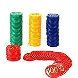 #10: Jonquin Poker Chips Set (10, 20, 50, 100) 40 Coins Each