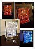 Wasserwand Wassersäule aus Edelstahl-mit-LED-Beleuchtung