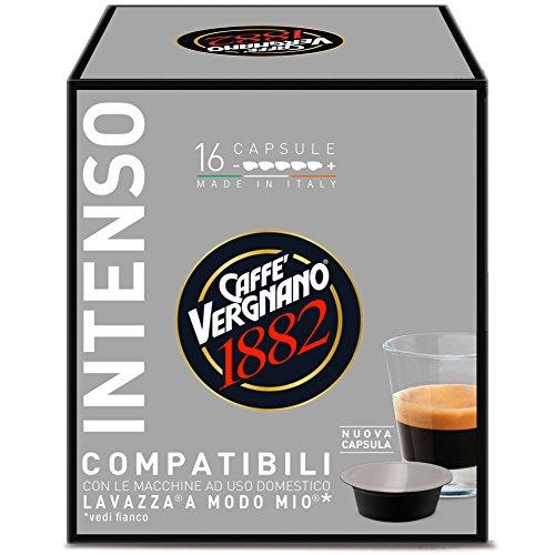 16 Capsule Caffè Vergnano 1882 Intenso Compatibili Lavazza a Modo Mio
