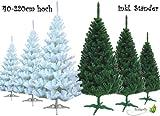 Künstlicher Tannenbaum inkl. Ständer (weiß, 220cm) // Christbaum Weihnachtsbaum Kunstbaum Tanne Baum