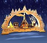 Schwibbogen, Seiffen mit Kirche, Lichterbogen, Weihnachten, 3D mit LED