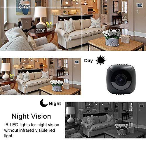 Telecamera Nascosta Spia Mini Microcamere TANGMI 1080P HD Spy Cam Videocamera Portatile Micro Telecamera di Sorveglianza Domestica Detección de Movimiento Angolo di Campo Visivo di 120 - 3