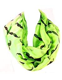 Trendy Hipster Styles of Handlebar Mustache Infinity Figure Eight Scarf
