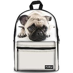 Designs4U - Mochila Negro Cute Pug 1