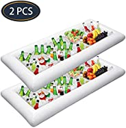 2 PCS Inflatable Serving Bars Ice Buffet Salad Serving Trays Food Drink Holder Cooler Containers Indoor Outdoo