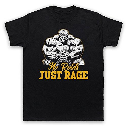 No Roids Just Rage Bodybuilding Culture Slogan Herren T-Shirt Schwarz