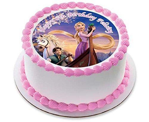 Raiponce Tangled gâteau personnalisée Glaçage Sucre Papier 19,1 cm image 4RT