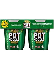 Pot Noodle Chicken and Mushroom Flavour, 4 x 90 g