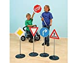 Unbekannt Verkehrszeichen-Set Kinder 10 Schilder groß - Verkehrserziehung Straßenverkehr Verkehrsschilder Grundschule