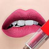 Malloom® Neuer langlebiger Lippenstift wasserdichtes Mattflüssigkeit-Lippenglanz-Lippenliner-Kosmetik (30g, N)