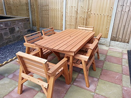 Solid Wooden Garden Furniture Set  6  Table   6 Chairs. Wooden Garden Furniture Sets  Amazon co uk