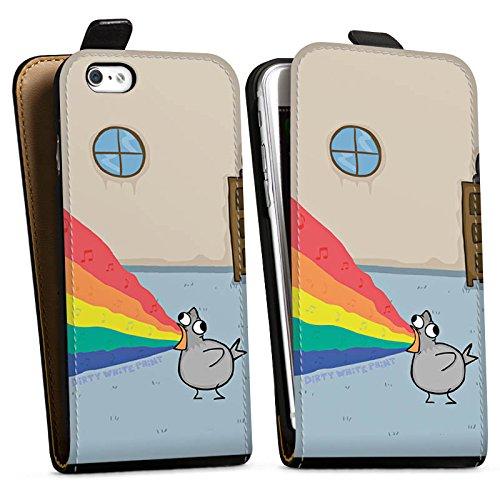 Apple iPhone X Silikon Hülle Case Schutzhülle DirtyWhitePaint Fanartikel Merchandise Zaubertaube Downflip Tasche schwarz