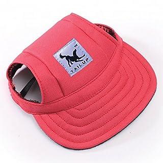 Alxcio Haustier Hunde Hüte Katze Kätzchen Prinzessin Gurt Hut Kappe Hat Sunbonnet für Klein Mittel Hunde Größe M (Rot)