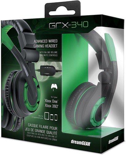 dreamGEAR: GRX-340 Advanced, Mit kabel Stereo Gaming Headset Für XBOX One Beinhaltet Inline Dual Lautstärkeregler für Chat und Spiel klingt. Auch kompatibel mit PS4, und weitere systeme