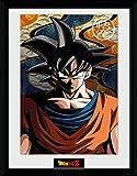 1art1 92490 Dragonball Z - Goku Gerahmtes Poster Für Fans und Sammler 40 x 30 cm