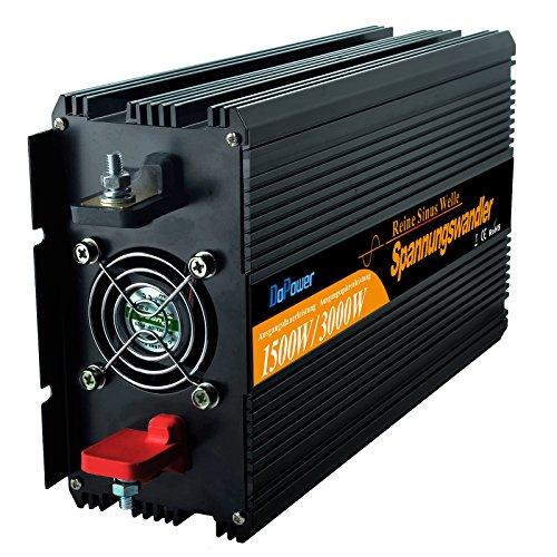 Preisvergleich Produktbild wechselrichter reiner sinus 1500 3000W spannungswandler 12V 230V inverter pure sine wave