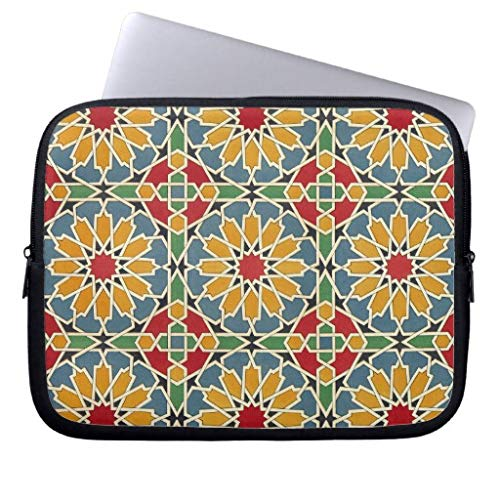qidushop Arabic Design 7At Emporio Moffa 11.6-12 Inch Computer Sleeve Laptop Case Soft Neoprene Breathable Case Bag for Teens