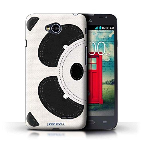 Kobalt® Imprimé Etui / Coque pour LG L70/D320 / Panda conception / Série Cousu des Animaux Effet Panda