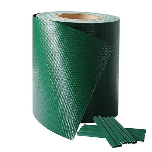 HOLISTAR PVC Valla Protectora de privacidad Bandas de Ocultación para Verjas Doble Cara para Jardín Balcón 0.19 x 36 cm Verde