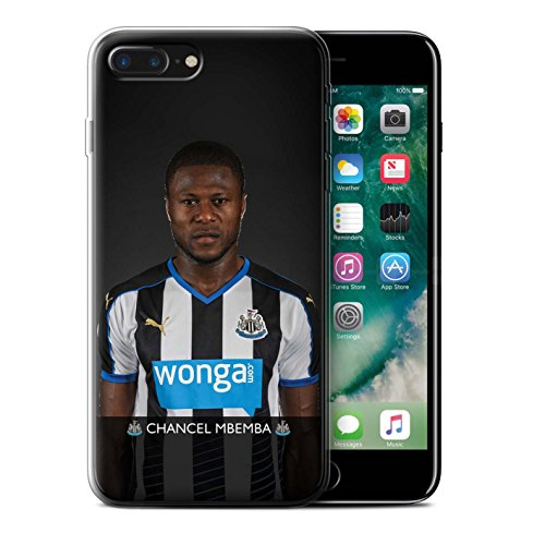 Offiziell Newcastle United FC Hülle / Gel TPU Case für Apple iPhone 7 Plus / Pack 25pcs Muster / NUFC Fussballspieler 15/16 Kollektion Mbemba