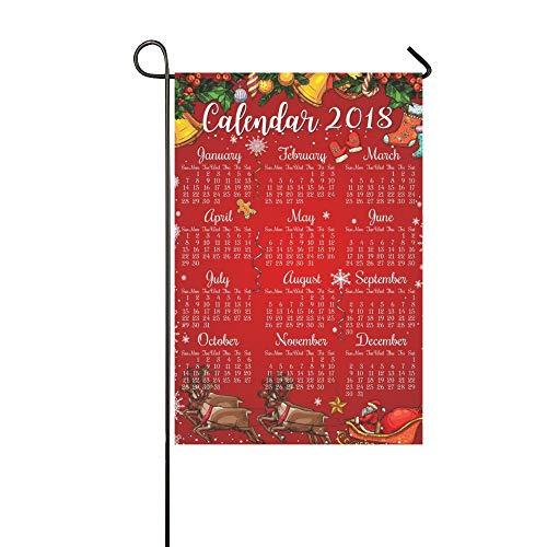 (home dekorative outdoor doppelseitig weihnachten neujahr kalender frame garten flagge haushof flagge, garten - dekorationen, seasonal welcome - flagge 12 x 18 Zoll im frühjahr und sommer geschenk)