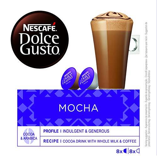 NESCAFÉ Dolce Gusto Café Mocha, Pack de 3 x 16 Cápsulas - Total: 48 Cápsulas de Café