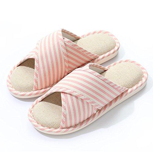 ZHIRONG Chaussons en lin et chaussures à glissière à glace antidérapantes en coton (5 couleurs en option) (taille en option)