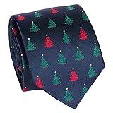 SHIPITNOW Cravatta Natalizia - Cravatta Albero di Natale - Cravatte Natalizie - Capodanno