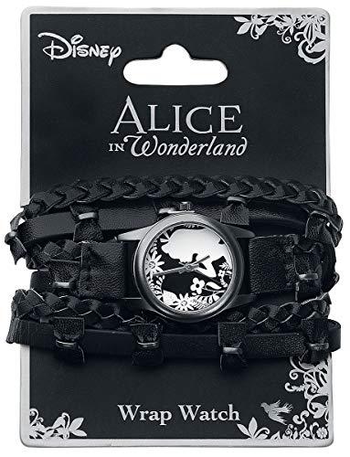 Alice im Wunderland Flower Alice Armbanduhren schwarz