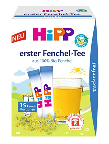 HiPP Erster Fenchel-Tee zuckerfrei, 6er Pack (15 x 5,4 g) -