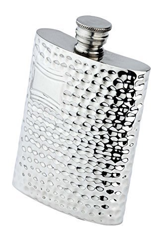 budd-leather-hammered-pewter-flask-6-ounce-silver-by-budd-leather