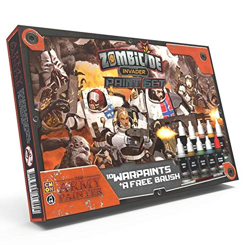 The Army Painter |  Zombicide: Invader Malset | 10 Acrylfarben | 1 Starter-Pinsel | Beginner Set für Cool Mini or Not Zombicide: Invader für Tabletop, Brettspiel Miniatur Modellmalerei